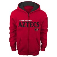 "NCAAキッズ&子供用Boys "" Stated "" Full Zip Hoodie レッド"