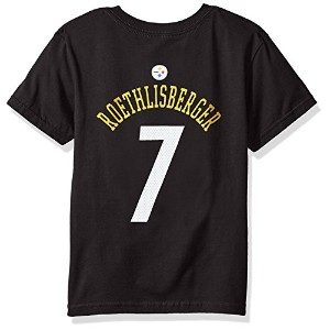 High Quality-7 Ben Roethlisberger Pittsburgh Steelers Mainliner Player Name & Number Short Sleeve...
