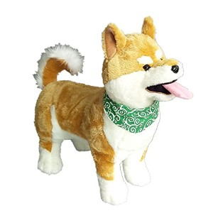 柴犬Tongue犬スタンドPlush Toy Stuffed Doll Adorable 48 cm