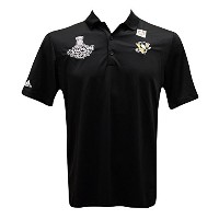 Pittsburgh Penguins 2016Stanley Cup ChampionsブラックAdidas Poloシャツ L
