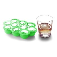 calsunoシリコンアイスボールトレイwith Lid、アイストレイ金型with 10Large Ice Balls、BPAフリーSuitable for Baby Food , Whiskey...