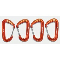wincspace Wiregate Carabiner Miniアルミ軽量Biners Best forハンモックサスペンションwithストレージポーチ2または4または6セット