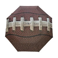 Naanle American Football Lace Close Up Auto Open Close Foldable Windproof Umbrella