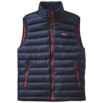 (パタゴニア)patagonia M's Down Sweater Vest 84622 Navy Blue w/Ramble Red(NBRR) S