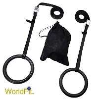 Worldfit Olympic Rings with Heavy Dutyウェビングand Heavy Dutyカムバックルfor Proジムまたはホームジム