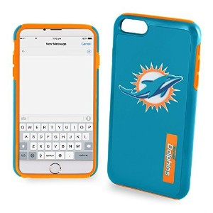 Miami Dolphins Impact TPU 2ピースデュアルハイブリッドIphone 8 / iPhone 7 / Iphone 6 / iPhone 6sケース – 4.7インチ画面のみ