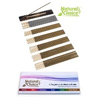 Natural Choice Incense Sticks – 6 fragrances &木製ホルダー – Made from Scratch – No Dipping