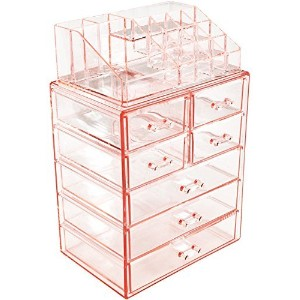 Sorbus 3 Large, 4 Small Drawers ピンク MUP-SET-34PIA