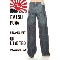 EVISU JEANS & PUMA MENS EURO UK LIMITED KAMOME& UK SPECIAL JEANS エヴィスジーンズ & プーマ ジーンズ【エビス ユーロ限定 エヴィス...