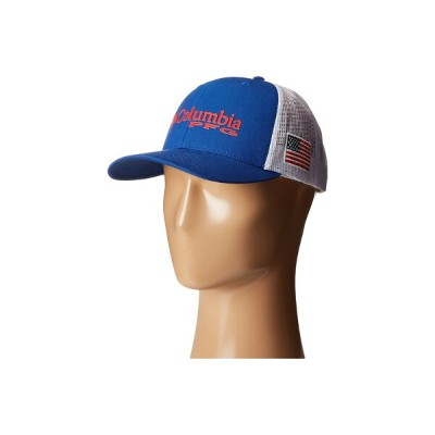 コロンビア メンズ 帽子 アクセサリー PFG Mesh Snap Back Ballcap Mountain Blue/USA Flag