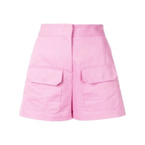 MSGM high-waisted shorts - ピンク&パープル