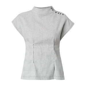 Lilly Sarti checkered pattern blouse - ブラック