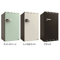 S-cubism 1ドア レトロ冷蔵庫 85L WRD-1085G・W送料無料 冷蔵庫 一人暮らし 冷凍庫 小型 おしゃれ 単身 コンパクト 1ドア エスキュービズム ライトグリーン・レトロホワイト...