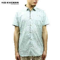 【30%OFFセール 4/21 10:00~4/24 09:59】 ノーエクセス NO EXCESS 正規販売店 メンズ 半袖シャツ Shirt s/sl all over printed mini...