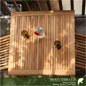 Square Dining Table80 IST-01T Istana Terrace イスタナテラス スクエアテーブル80 チーク材 屋外家具 ガーデンファニチャー