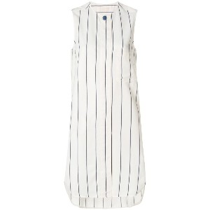 Jacob Cohen pinstripe long line blouse - ホワイト