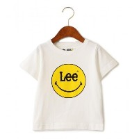 〔WEB限定〕LEE(リー) ロゴSMILE TEE【グリーンレーベルリラクシング/green label relaxing キッズ Tシャツ・カットソー WHITE ルミネ LUMINE】