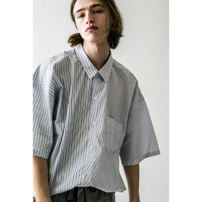 [Rakuten BRAND AVENUE]【SALE/40%OFF】 monkey time  STRIPE PANEL OVERSIZED REG SS/シャツ BEAUTY & YOUTH UNITED ARROWS ビューティ&ユース ユナイテッドアローズ シャツ/ブラウス【RBA_S】【RBA_E】【送料無料】
