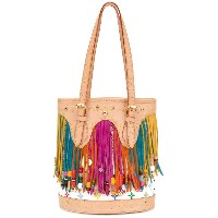 Louis Vuitton Vintage fringed monogram bucket bag - マルチカラー