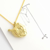 【Aquvii/アクビ】Heart Attack Necklace 心臓モチーフのロケットペンダント DM便可能 心臓 ネックレス モチーフ リアル かわいい 真鍮 プレゼント アクセサリー 体...