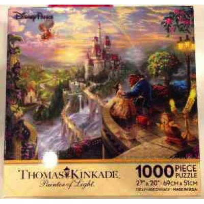 Disney ディズニー 美女と野獣 パズル フォールインラブ Beauty and the Beast ''Falling in Love'' Puzzle by Thomas Kinkade...