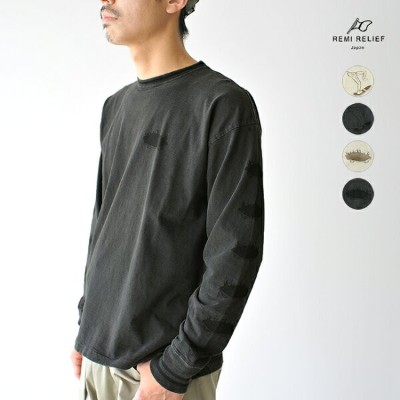 【SALE!40%OFF】REMI RELIEF レミレリーフ 天竺袖ラインプリントTシャツ ・RN18229237・RN18229238 #0505【セール】【返品交換不可】【SALE】