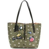 Coach Snow White patch printed tote - グリーン