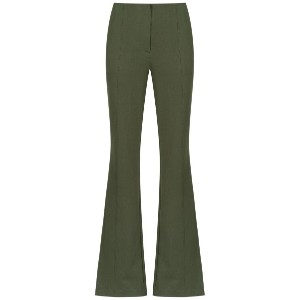 Alcaçuz Cogumelo flared trousers - グリーン