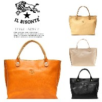 【IL BISONTE】イルビゾンテ #A2307P トートバッグ/NATURAL(120)/CARAMEL(145)/NERO(153)/TAUPE(810)/レディース バッグ 本革 レザー...