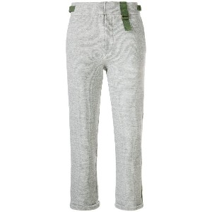 Mr & Mrs Italy cropped jogging trousers - グレー