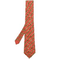 Hermès Vintage patterned tie - レッド