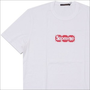 SUPREME(シュプリーム) x LOUIS VUITTON(ルイ・ヴィトン) Monogram Box Logo Tee (Tシャツ) WHITE 418-000075-030+【新品】