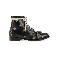 Gucci Queercore embroidered brogue boot - ブラック