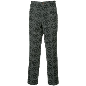 Comme Des Garçons Vintage swirl printed trousers - グレー