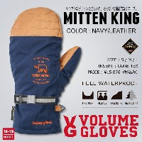 18-19 VOLUME GLOVES (ボリュームグローブ) MITTEN KING -NAVY/LEATHER LIMITED- / 早期予約割引8%OFF [GORE-TEX][送料無料]...
