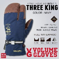 18-19 VOLUME GLOVES (ボリュームグローブ) THREE KING -NAVY- / 早期予約割引8%OFF [GORE-TEX][送料無料][正規品]