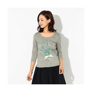 【SALE(伊勢丹)】 TO BE CHIC/TO BE CHIC  ブーケプリントTシャツ グレー 【三越・伊勢丹/公式】 レディースウエア~~Tシャツ~~その他
