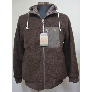 GOHEMP(ゴーヘンプ)REVERSIBLE WARMER HOODY(GHJ5028CBA)-BROWN【送料無料】
