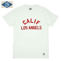 "NAKED SUN USA COTTON PRINT Tee ""CALIF(ORNIA)"" / WHITE"