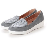 【SALE 40%OFF】フィットフロップ fitflop SNEAKERLOAFER - LUXE-TWEED (Dove Blue) レディース
