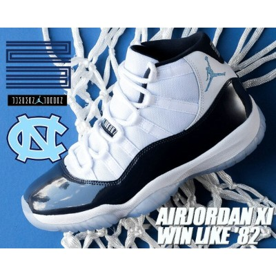 "NIKE AIR JORDAN 11 RETRO ""WIN LIKE '82"" white/university blue【ナイキ エア ジョーダン XI メンズ スニーカー AIRJORDAN..."