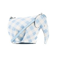 Loewe Elephant gingham mini bag - ブルー