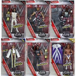 WWE エリート 45 - Complete セット of 6 Mattel Toy Wrestling アクション Figures (海外取寄せ品)