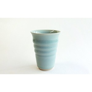A15-34【ふるさと納税】茂正工房 青磁ビアカップ【陶磁器】