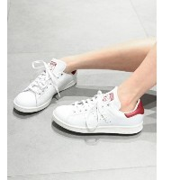 【adidas Originals】STAN SMITH【エミ/emmi レディス スニーカー WHTxRED ルミネ LUMINE】