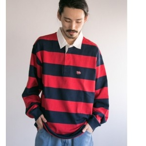 UR VOTE MAKE NEW CLOTHES×UR 別注BIG RUGBY JERSEY【アーバンリサーチ/URBAN RESEARCH メンズ Tシャツ・カットソー RED ルミネ...