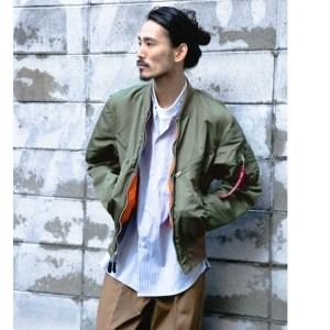 UR ALPHA INDUSTRIES×NEXUSVII.×UR 別注TESTPILOT JACKET【アーバンリサーチ/URBAN RESEARCH メンズ ミリタリージャケット OLIVE...