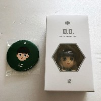 SM TOWN Gift Shop EXO Official Figure Key Ring + Limited EXO Mirror - D.O.