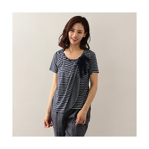 【SALE(伊勢丹)】 TO BE CHIC/TO BE CHIC  スムースボーダーカットソー ネイビー 【三越・伊勢丹/公式】 レディースウエア~~Tシャツ~~その他