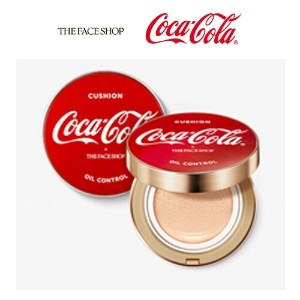 ★[THE FACE SHOP]★Coca-Cola Limited Edition★Oil control water cushion/15g/2の肌タイプ/韓国/コスメ/化粧品/ファンデーション